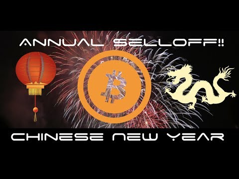 Chinese New Year Cryptocurrency Annual Sell Off!!!!