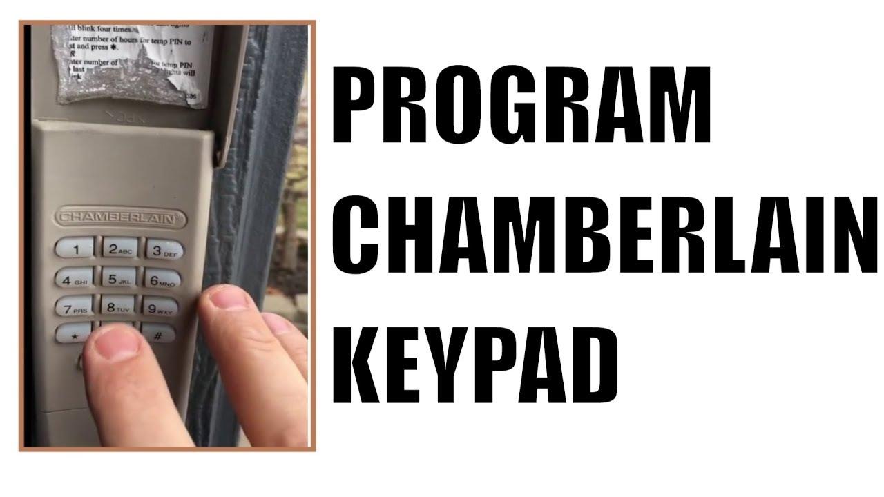 How to program Chamberlain Chamberlin Garage Door Keypad  YouTube