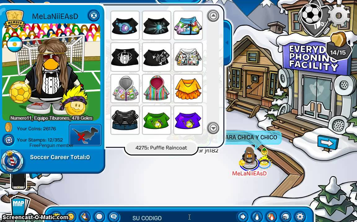 codigo de ropa en free penguin
