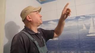 видео Потолок из гипсокартона в санузле