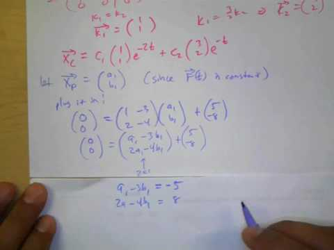 8.7 Non-Homogeneous Linear Systems- Undetermined Coefficients