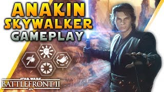 ANAKIN SKYWALKER GAMEPLAY: Coolest Abilities So Far? - Star Wars Battlefront 2