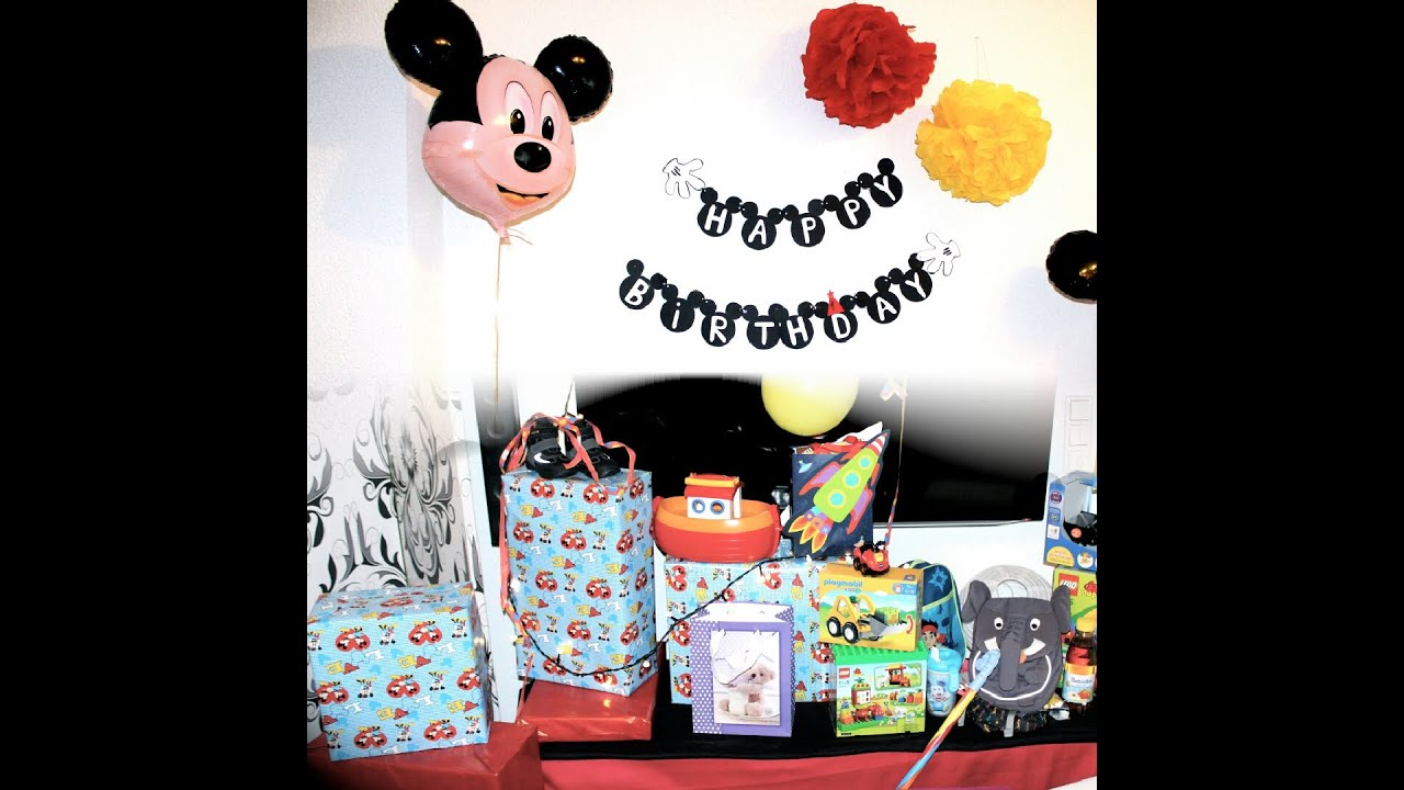 mickey mouse party serie fynn 39 s 1 geburtstag kleiner. Black Bedroom Furniture Sets. Home Design Ideas