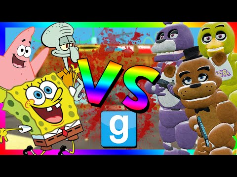 ANIMATRONICS VS SPONGEBOB | Fnaf Attacks Bikini Bottom (Gmod Roleplay)