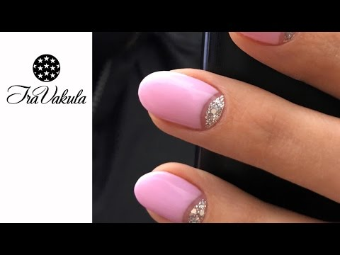 Half-Moon Manicure Nail Art Step By Step