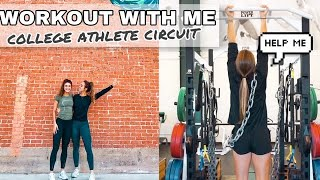 WORKOUT WITH ME | D1 college soccer in-season workout circuit