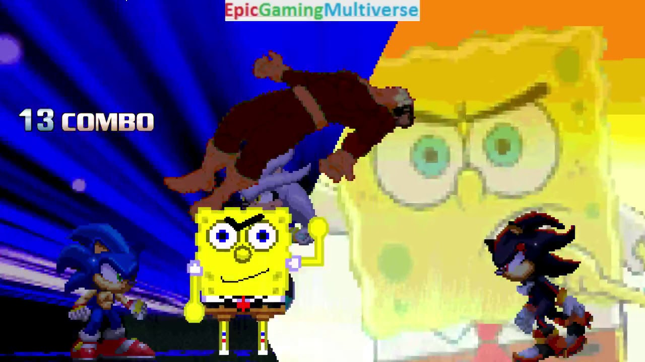 Spongebob Squarepants And Sonic The Hedgehog Characters Vs Doctor Octopus In A Mugen Match Battle Youtube