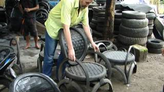 Recycled Rubber Tire Factory That Supplies Bali & Beyond With Furniture