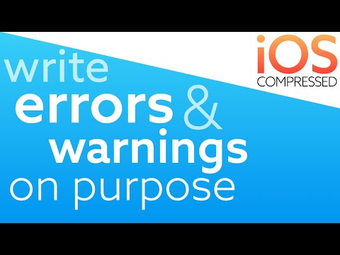 Write Errors & Warnings On Purpose! iOS Swift - under 60 seconds thumbnail