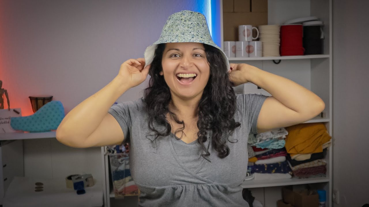 Jeder kann dieses BUCKET HAT nähen! [kostenloses Schnittmuster]
