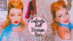 THE INFINITY ROLL | Vintage 1950s Hair Tutorial