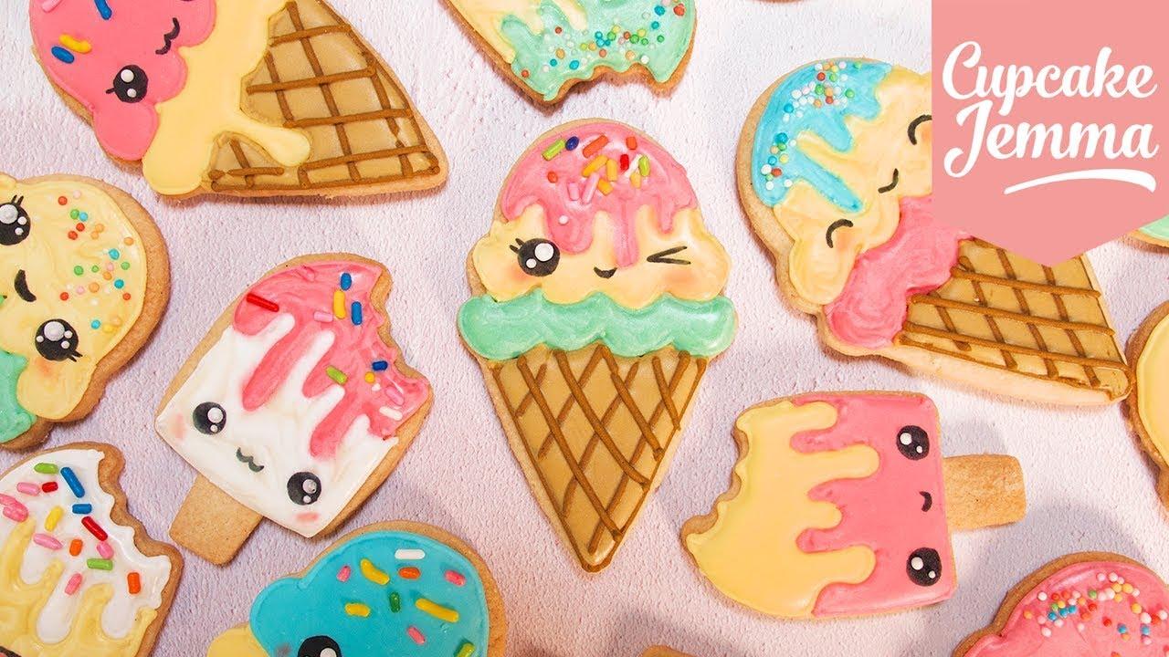 cute kawaii ice cream cookies with juliet sear cupcake jemma youtube
