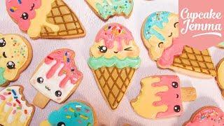 Cute Kawaii Ice Cream Cookies with Juliet Sear Cupcake Jemma