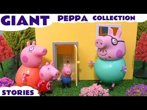 Giant Peppa Pig Story Video Play Doh English Episodes 2 Thomas and Friends Surprise Eggs Pepa Toys