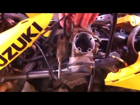 Suzuki ltz400 Carburetor removal. How to take off carburetor on ...