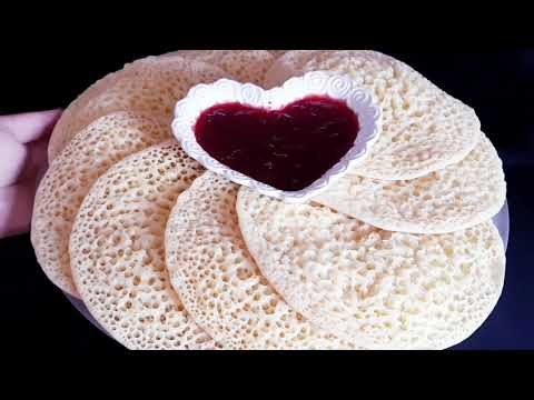فطائر-,-تحضير-بغرير-مغربي-moroccan-cooking,-how-to-make-baghrir-moroccan-pancakes-recipe-at-home