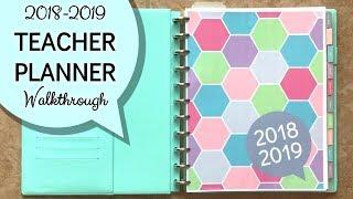 2018-2019 Teacher Planner Walkthrough (Ideal for Secondary Teachers)