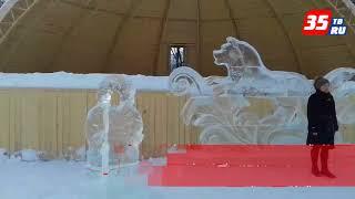 В Тотьме поселилась ледяная собака