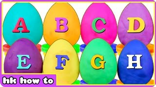 How To Make Play Doh ABC Surprise Eggs - Learn Alphabets With Play Doh Surprise Eggs