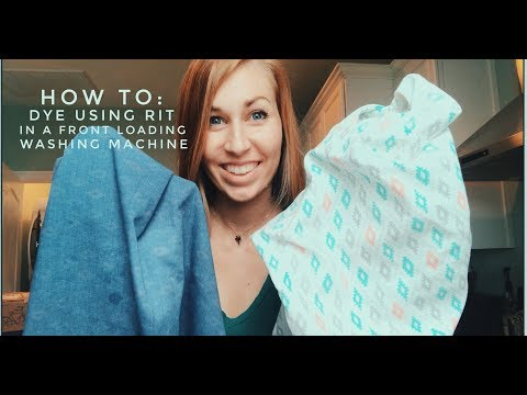 How To: Dye Using Rit In A Front Loading Washing Machine - Camper/RV Curtains