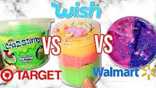 Walmart VS Wish VS Target Slime Review! Is It Worth It?!