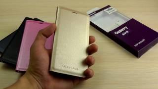 ОБЗОР: Оригинальный Чехол-Книжка Flip Wallet для Samsung Galaxy A5 (A510) 2016 года