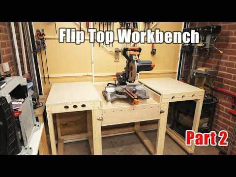 Workbench with a  Flip Top mitre saw station - all in one solution workbench PART 2