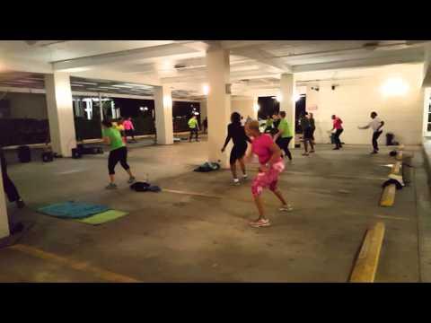 Outdoor Fitness Bahamas Warmup at E&Y