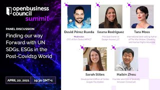 Finding our way Forward with UN SDGs, ESGs in the Post-Covid19 World