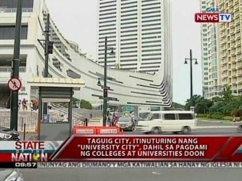 """Taguig city, itinuturing nang """"University city"""", dahil sa pagdami ng colleges at universities doon"""