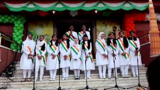 Patriotic song at Indian Embassy Kuwait