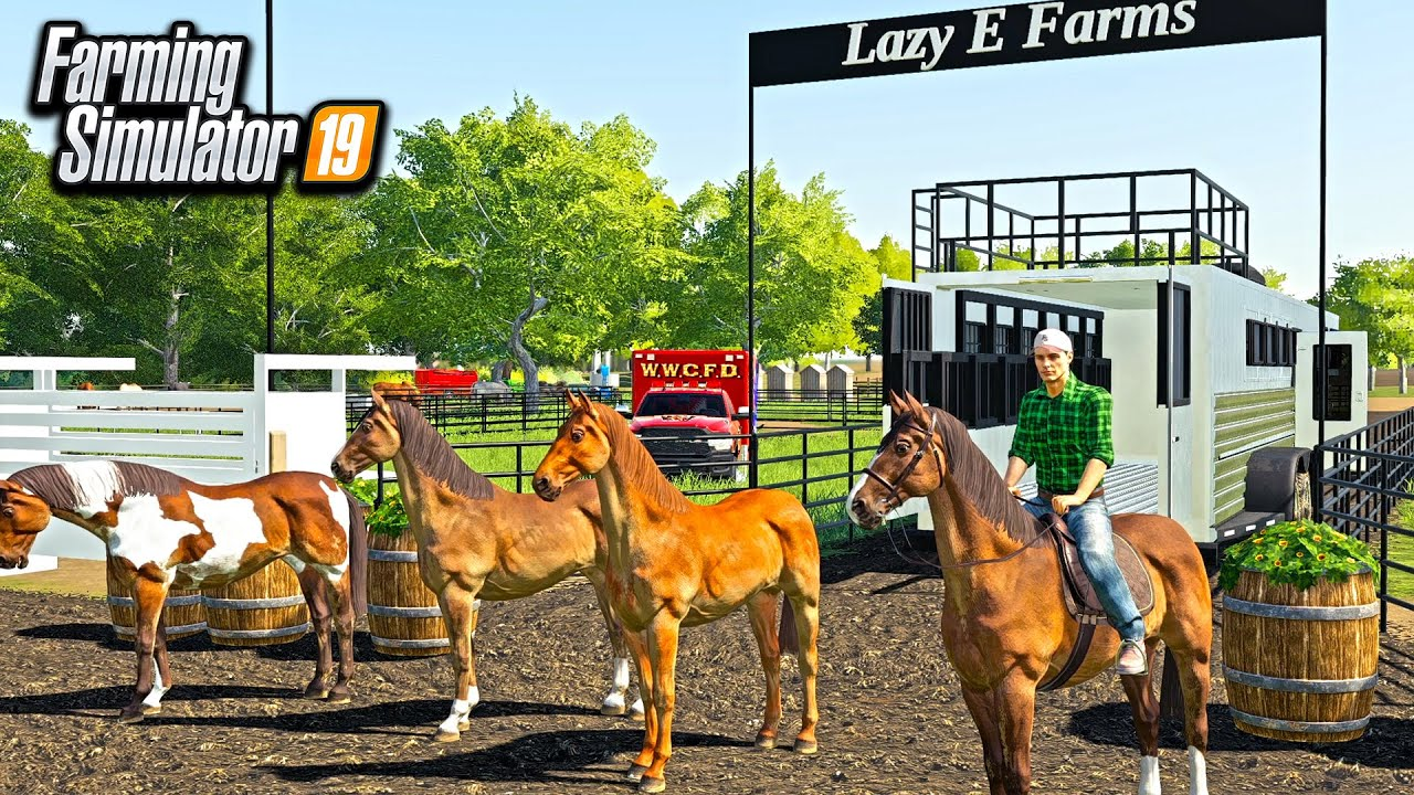 AMERICAN HORSE RODEO IN FARMING SIMULATOR! (BIG INJURY'S)   FARMING SIMULATOR 2019