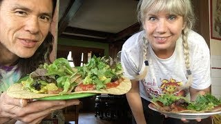 What We Ate In A Day. Tacos, Pizza + Vegan Guitar Strap Score