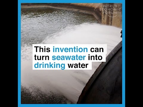 This invention can turn seawater into drinking water