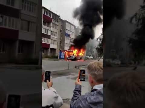 В Ельце сгорел рейсовый автобус