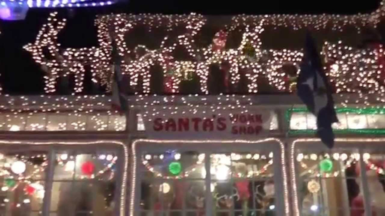 Christmas House Decorations Canarsie Brooklyn New York 2014 Youtube