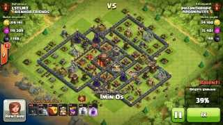 BM050 Balloons and Minions Strategy against champion level opponent - Clash of Clans CoC