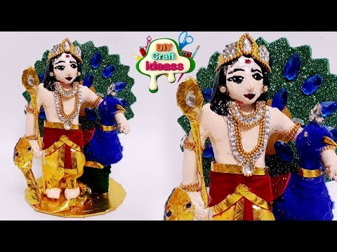 Subramanyan Swamy Idea | How To Make Murugan God Diy  Craft | Arush Craft Ideas