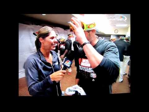 Amy Gutierrez Champagne Dousing Interview With Giants