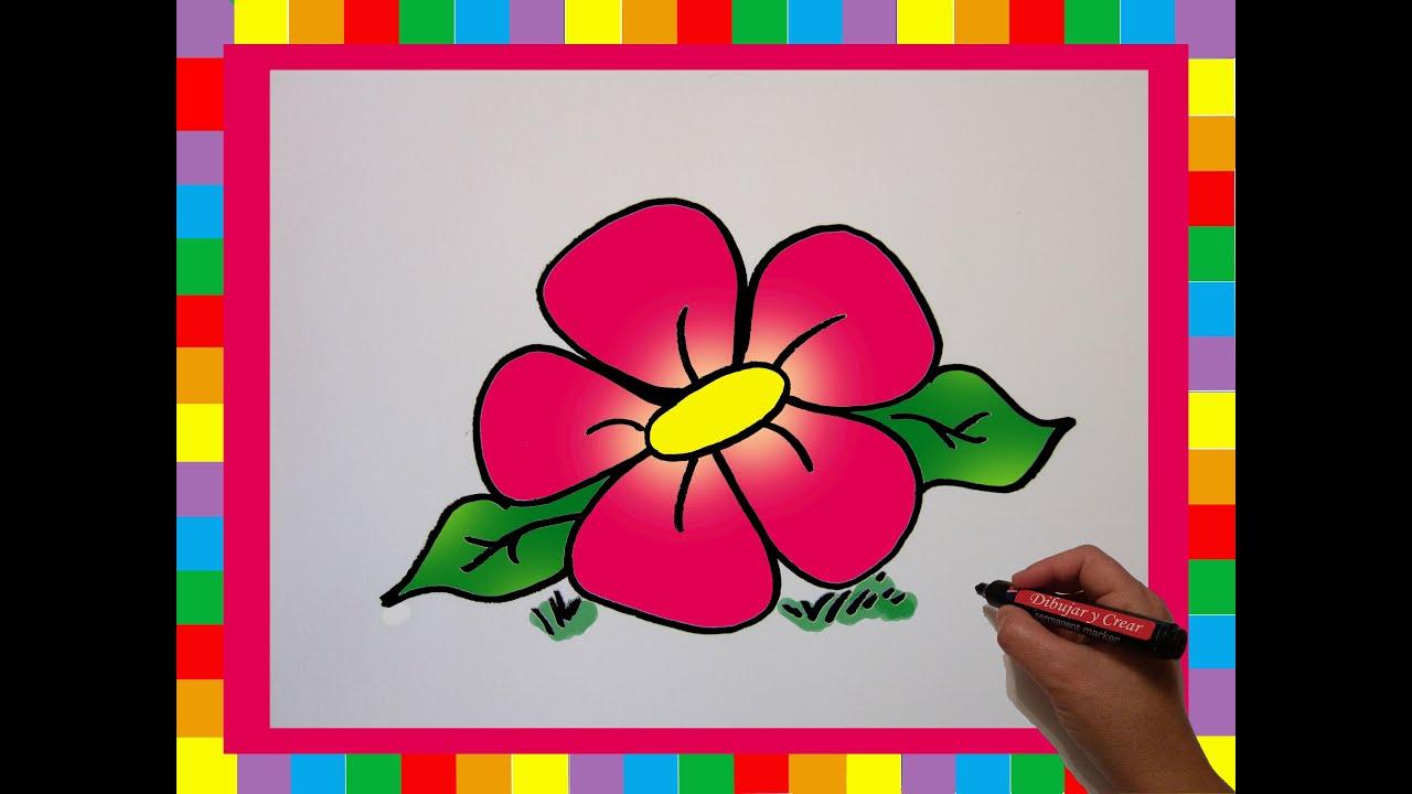 Como Dibujar Una Flor / How To Draw A Flower