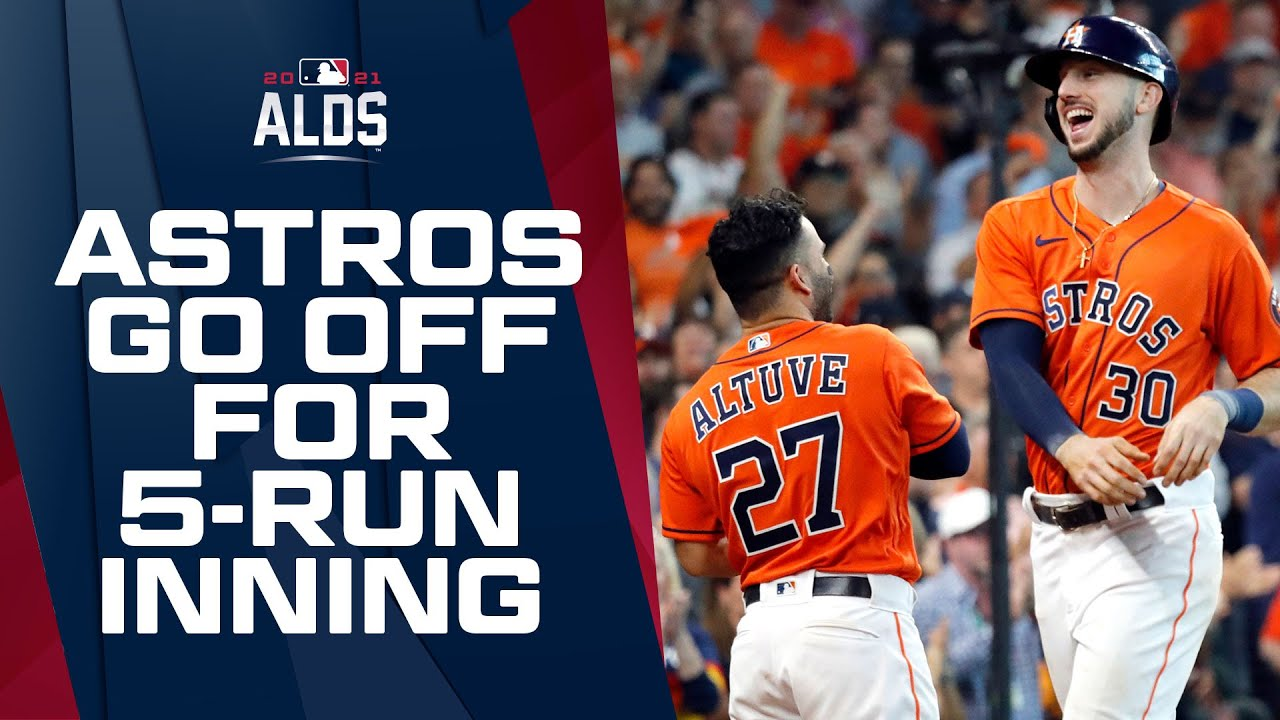 ASTROS GO OFF IN 7TH!!! 5-run inning puts them WAY up in Game 2!!