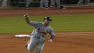 2001 NLDS Gm2: Pujols hits his first Postseason homer