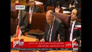 الآن| كلمة وزير الخارجية المصري في الاجتماع الطارئ لوزراء الخارجية العرب