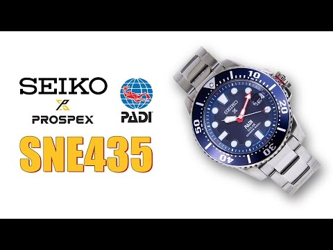 Seiko SNE435 PADI Solar Dive Watch