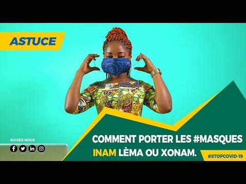 Comment porter le masque INAM Lèma ou Xonam pour bien se protéger contre #COVID-19
