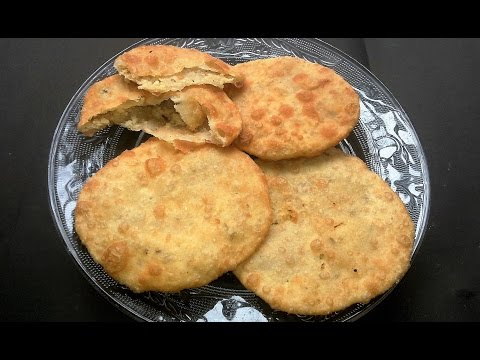 Radha Ballavi | Split White Lentil Peas Stuffed Fried Bread -  In Bengali Recipe
