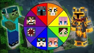 Minecraft YOUTUBER WHEEL OF FORTUNE MOD / PLAY AND FIGHT YOUTUBERS TO SURVIVE !! Minecraft