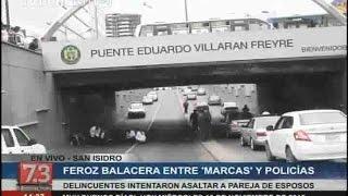 """San Isidro: feroz balacera entre """"marcas"""" y policía deja un herido"""