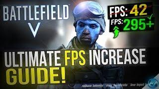 المعركة الخامس: زيادة كبيرة في الأداء / إطارا في الثانية مع أي الإعداد! BFV / BF5 إطارا في الثانية زيادة