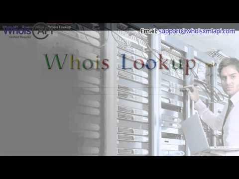 Whois Domain Lookup Service - Whoisxmlapi.com